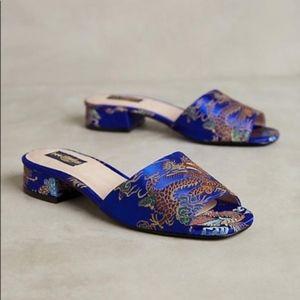 Anthro Shelly's London Beocade Jacquard Slides